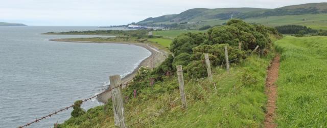 07 Ruth hiking the Loch Ryan Coastal Path, Stranraer