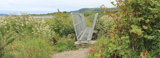 10 Loch Ryan Coastal Path, Ruth hiking to Glenapp