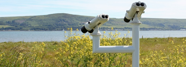 11 binoculars, Ruth's coastal walk, Scotland, Galloway