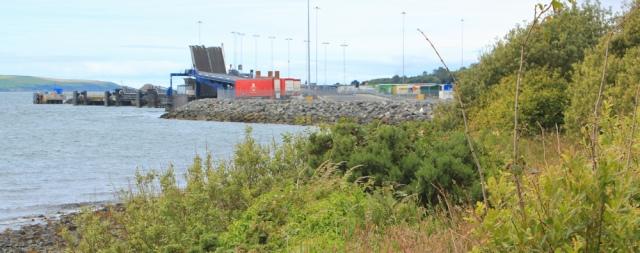 12 Ferry Port, Stranraer, Ruth walking the Scottish Coast
