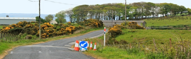 13 road works, Ruth's coastal walk, The Rhins, Galloway