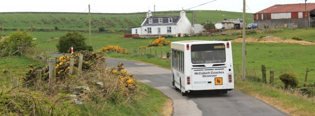 15 local bus, Ruth's coastal walk, The Rhins, Galloway