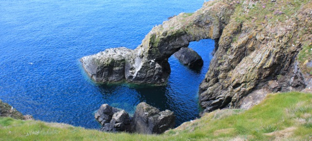 15 natural arch, Ruth walking the coast in Dumfries and Galloway, Scotland