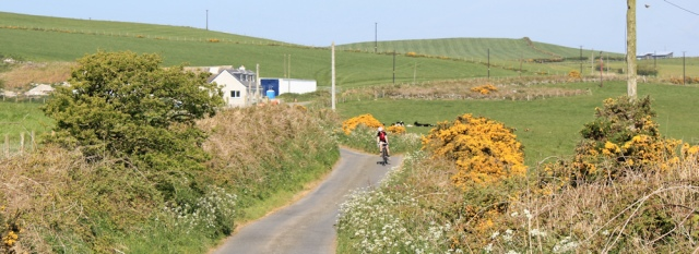 16 cyclist, Ruth Livingstone hiking in Dumfries and Galloway