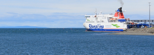 16 Stena Line ferry port, Loch Ryan, Ruth hiking in Scotland