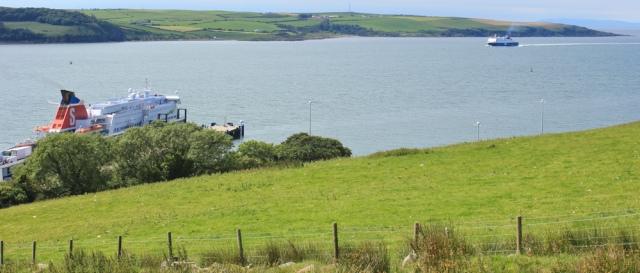 18 mouth of Loch Ryan, ferryport, Stranraer, Ruth hiking
