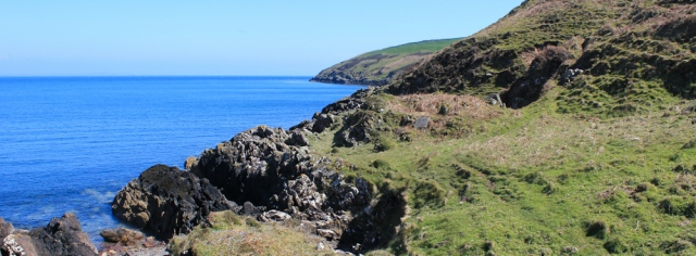 21 rough path, Ruth walking the Mull of Galloway Trail, Scotland