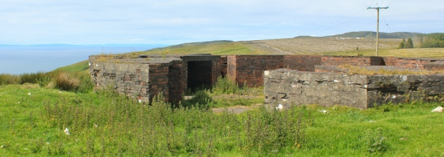 24 gun battery, Little Laight Hill, Ruth walking the Mull of Galloway Trail, Scotland