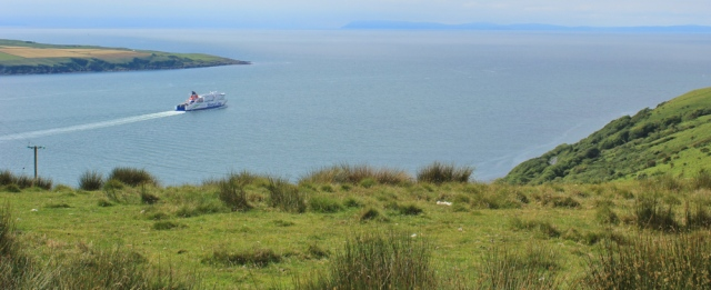 26 ferry for Ireland, Ruth hiking the Mull of Galloway trail, Scotland