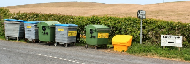 26 Knocknassie bins, Ruth's coastal walk, The Rhins, Galloway