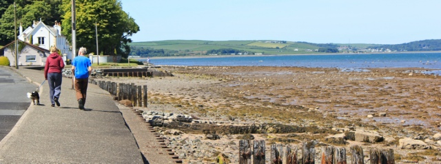 29 Loch Ryan, Ruth hiking in Stranraer, Scottish coast