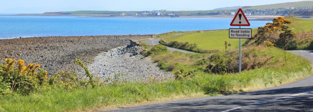 31 Kilstay Bay and Drummore, Ruth hiking the Mull of Galloway Trail