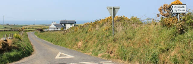 31 road to Corsewall lighthouse, Ruth's coastal walk, The Rhins, Galloway