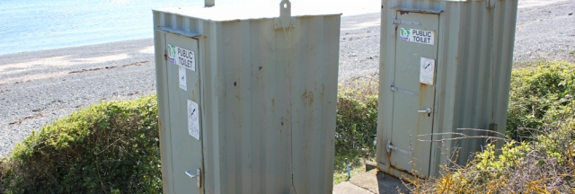 31 ugly public toilets, Monreith, Ruth's coastal walk, Galloway, Scotland