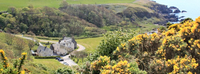 34 Knockinhaam Lodge, Ruth hiking to Portpatrick, Galloway, Scotland