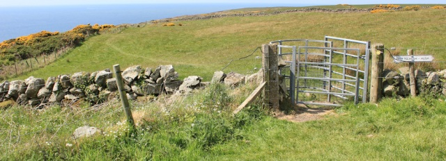 36 path to Hush Hush, Ruth hiking to Portpatrick, Galloway, Scotland