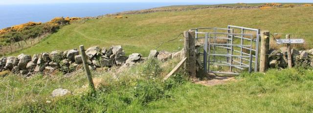 36 path to Hush Hush, Ruth hiking to Portpatrick, Galloway, Scotland