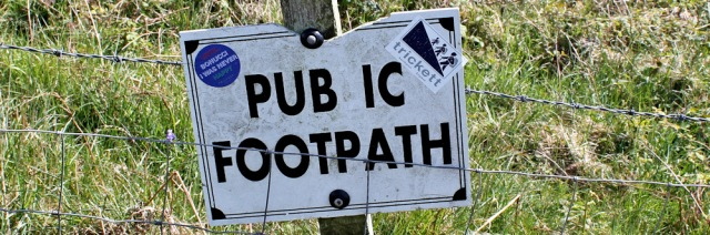 37 pubic footpath, Ruth hiking to Portpatrick, Galloway, Scotland