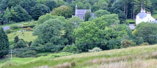 41 glenapp church, Ruth on the Loch Ryan coastal path