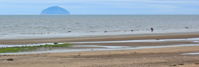 01 Ailsa Craig from Girvan, Ruth Livingstone walking the Ayrshire Coastal Path