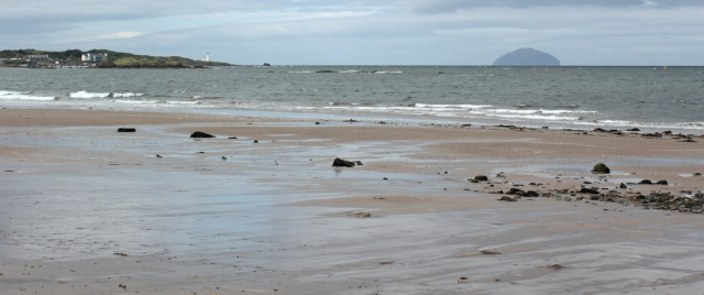 03 Ailsa Craig from Maidens beach, Ruth's coastal walk, Scotland