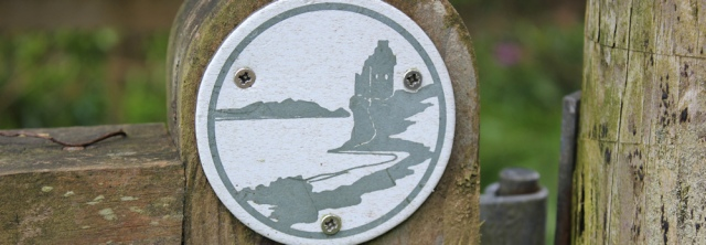04 Ayreshire coast path sign, Ruth hiking in Scotland, Ayrshire Coastal Path