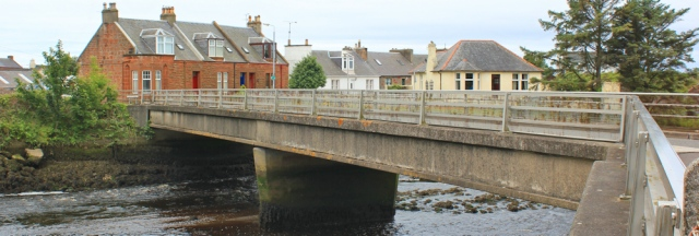 07 Bridge over Water of Grivan, Ruth Livingstone walking the Ayrshire Coastal Path