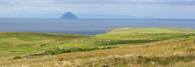 10 Ailsa Craig and Isle of Arran, Ruth hiking in Scotland, Ayrshire Coastal Path