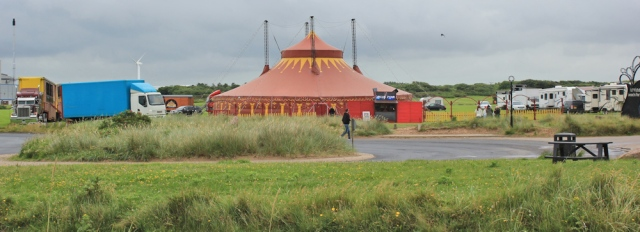 15 circus tent, Irvine, Ruth's coastal walk
