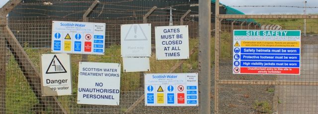 17 water treatment plant, Ruth Livingstone walking the Ayrshire Coastal Path
