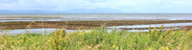 18 Isle of Arran from Ayr, Ruth hiking the coast of Scotland