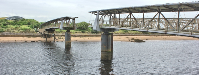 18 missing link footbridge, River Irvine, Ruth's coastal walk