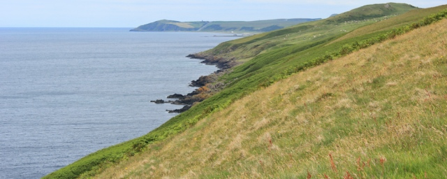 21 Ruth hiking the Ayrshire Coastal Path, Scotland, Ballantrae