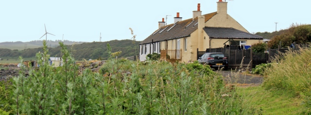 23 cottages, Ruth hiking the Ayrshire Coastal Path