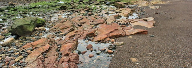 25 rocky shore, Ruth Livingstone walking the Ayrshire Coastal Path