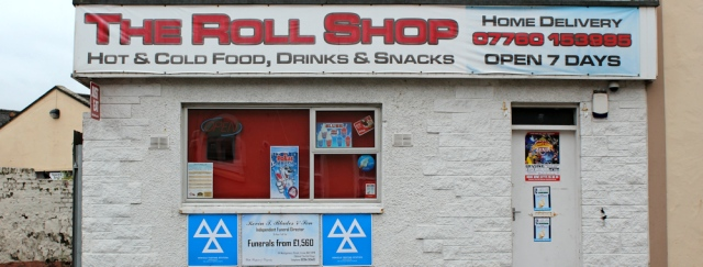 26 Rool Shop, Irvine, Ruth hiking the coast of Scotland