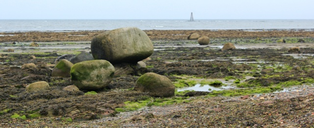 27 rocks and light bouy, Ruth Livingstone walking the Ayrshire Coastal Path