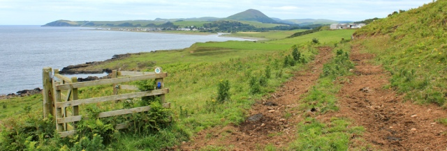 28 cattle track, Downanhill, Ruth hiking the Ayrshire Coastal Path, Scotland
