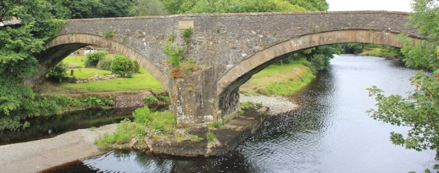 38 Bridge over River Stinchar, Ballantrae, Ruth hiking the Ayrshire Coastal Path, Scotland