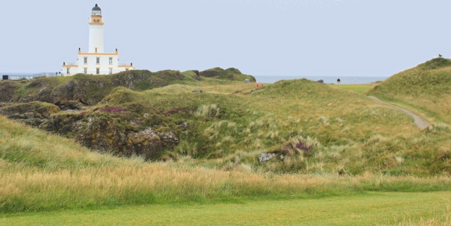 38 Turnberry lighthouse, Ruth hiking the Ayrshire Coastal Path, Scotland
