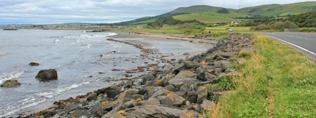 40 A77 into Girvan, Ruth's coastal walk, Scotland