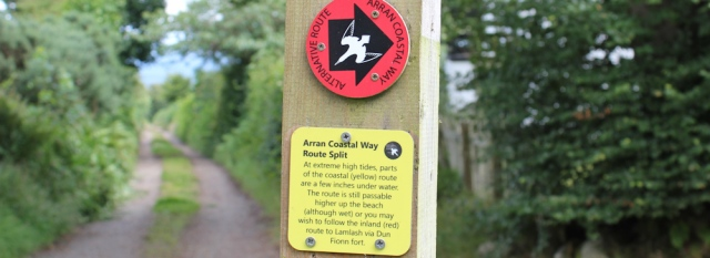07 choice of routes, Arran Coastal Way, Ruth Livingstone