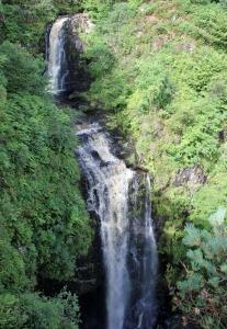 08 Glenashdale Falls, Ruth hiking on the Isle of Arran