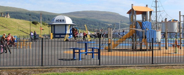 10 shut icecream stand in playground, Largs, Ruth Livingstone