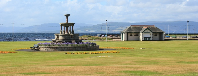 11 park and fountain, Largs, Ruth's coastal walk, Scotland