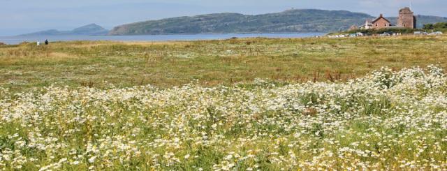 16 Portencross, Ruth hiking the Ayrshire Coastal Path, Scotland