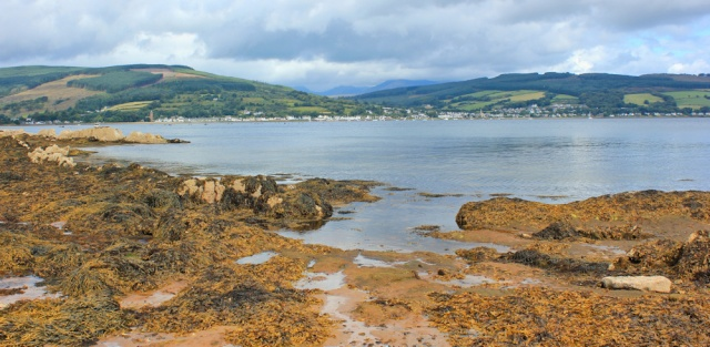 17 Lamlash Bay, Ruth hiking the Arran Coastal Way, Scotland