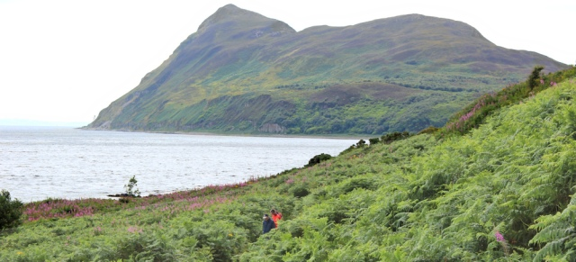 18 Holy Island, Ruth hiking from Brodick to Lamlash, Isle of Arran