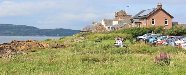18 Portencross, Ruth walking the Ayrshire Coastal Path, Scotland