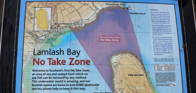 19 Lamlash Bay, No Take Zone, Ruth's coastal walk, Isle of Arran